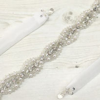 Narrow Diamante Bridal Belt