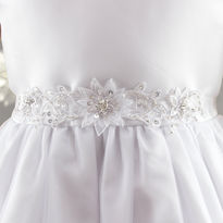 Organza Spikey Flower Flowergirl Belt