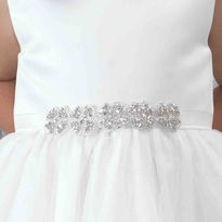Childs Beaded Trim Diamante Belt