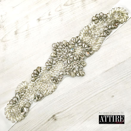Pearl & Diamante Beaded Bridal Belt
