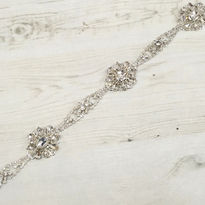 Diamante Flowers Bridal Belt