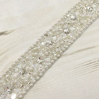 Hand Beaded Bridal Belt