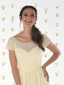 Short Sleeve Lace Bridesmaids Jacket
