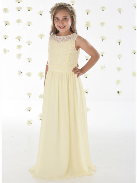 Plain Chiffon Dress with Shoestring Straps (Jacket Sold Separately)