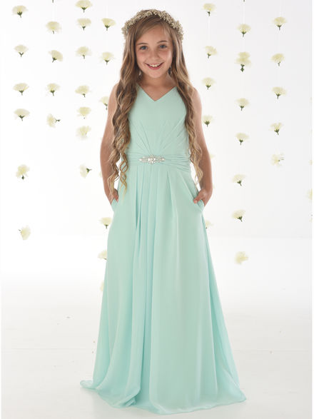 Junior Bridesmaids Dress with Pockets
