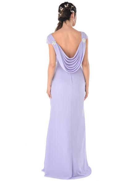 a5200fad0d Cowl Back Chiffon Bridesmaid Dress