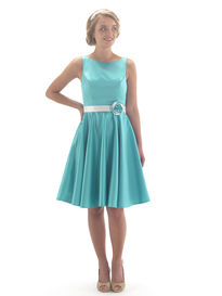 Satin 50's Style Short Bridesmaid Dress