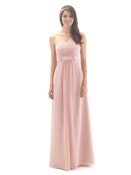 Strapless Bridesmaid Dress With Satin Band