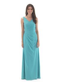 Chiffon Bridesmaids Gown with Full Straps