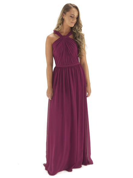 Halterneck Chiffon bridesmaids Dress