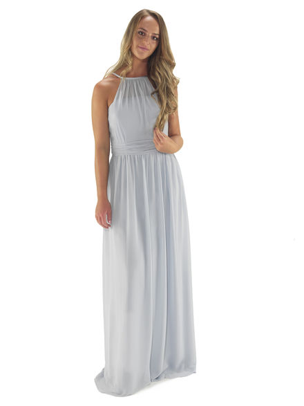 Chiffon Halterneck Bridesmaids Dress