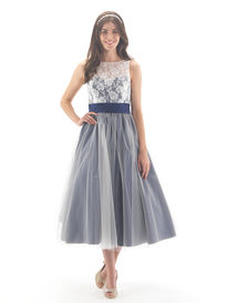 Lace & Tulle Ballerina Length Bridesmaid Dress