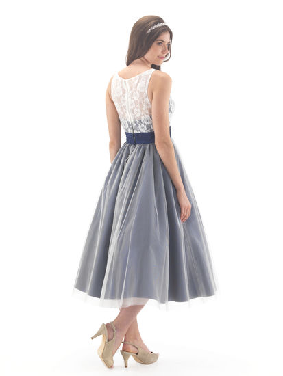 Lace Amp Tulle Ballerina Length Bridesmaid Dress