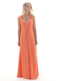 Full Length Beaded Bust Sweetheart Bridesmaid Dress