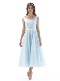 50's Style Tea Length Bridesmaid Dress