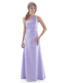 One Shoulder Chiffon Full Length Bridesmaid Dress