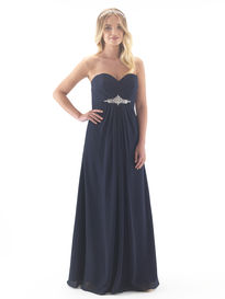 Chiffon Full Length Bridesmaid Dress