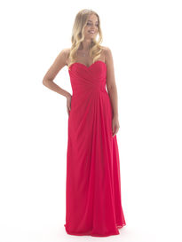 Chiffon Sweetheart Full Length Bridesmaid Dress