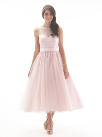 Ballerina Length Tulle Bridesmaid Dress