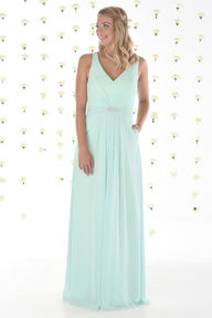 Chiffon Bridesmaids Dress with Pockets
