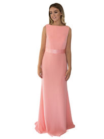 Elegant Bridesmaid Dress with Low V Back