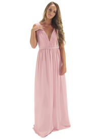 Deep V Bridesmaid Dress
