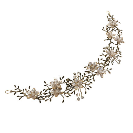 Vintage Flower & Leaf Hair Vine