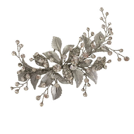 Leaf & Diamante Hair Clip
