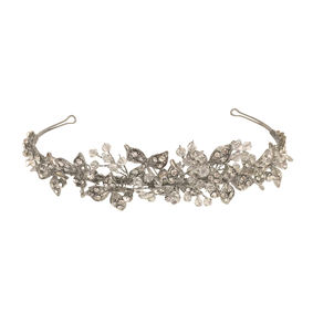 Crystal & Diamante Leaf Tiara