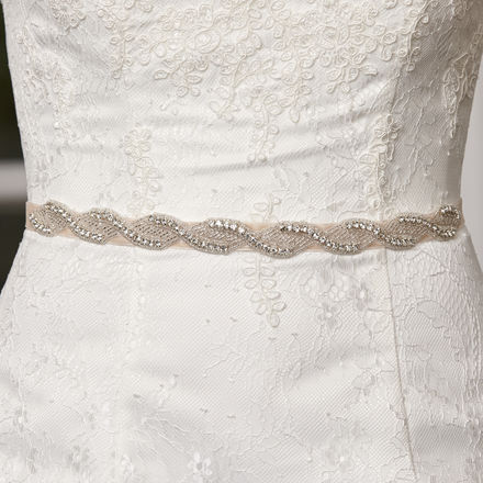 Blush Pink Velvet Bridal Belt