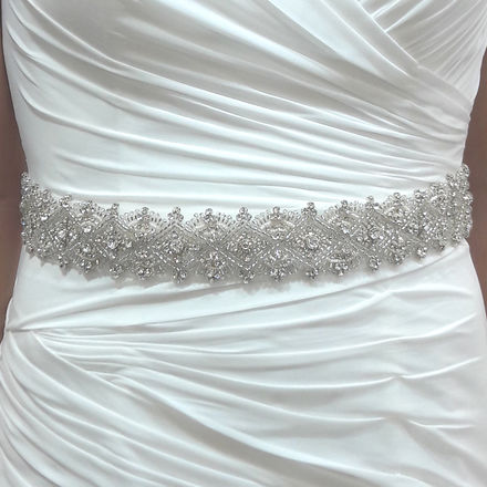 All The Way Round Diamante Bridal Belt