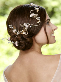 Flower & Leaf Hair Vine with Hair Pins