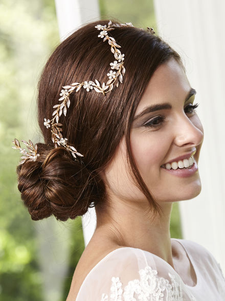 Gold Hairvine with 3 Matching Hairpins