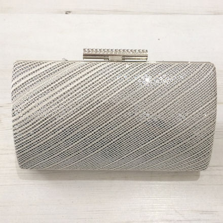 Sequin Clutch Bag With Beaded Clasp