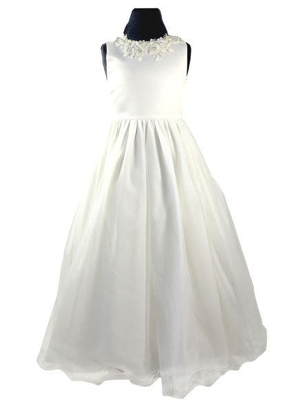 Beaded Collar Flowergirl Dress