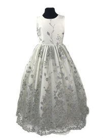 Sparkle Scalloped Hem Flowergirl Dress