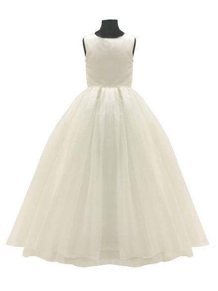 Plain Flowergirl Dress with Full Skirt
