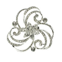 Swirl Pattern Bridal Brooch
