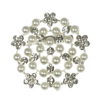 Diamante & Pearl Bridal Brooch