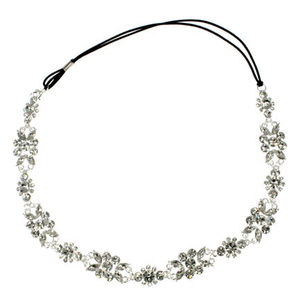 Diamante Flower Bridal Brow Band