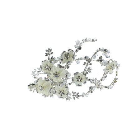 Diamante and Crystal Floral Bridal Hair Clip