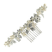 Pearl and Diamante Bridal Comb