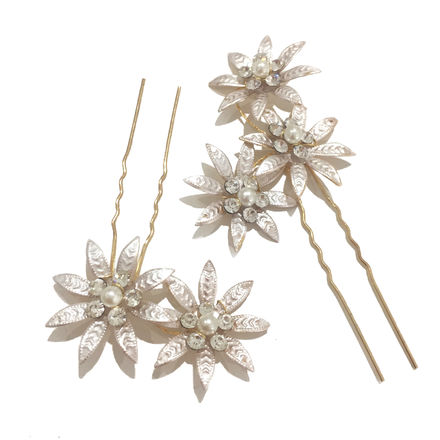 Set of 3 Champagne Hair Pins