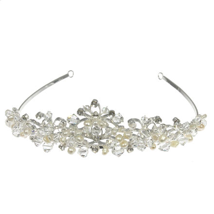 Pearl Crystal and Diamante Tiara