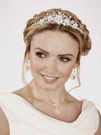 Diamante and Crystal Flower Tiara