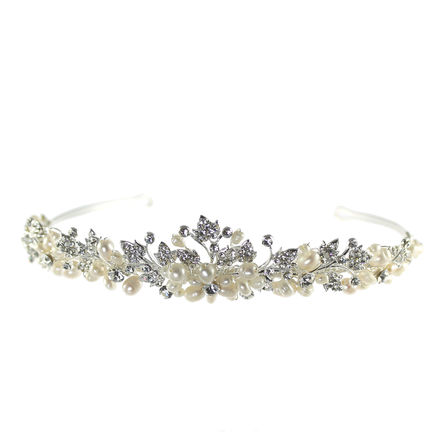 Pearl and Diamante Tiara