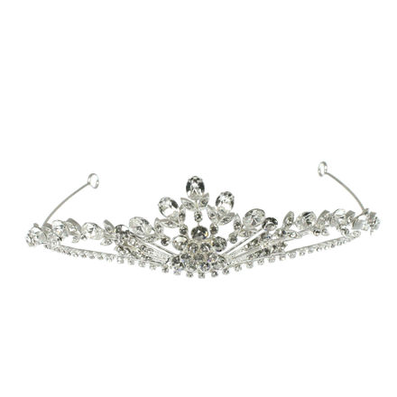 Diamante Flower Bridal Tiara