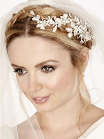 Diamante Wedding Hair Clip with Pearls