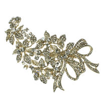 Diamante Corsage Design Bridal Hair Clip
