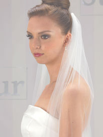 Plain One Tier Bridal Veil